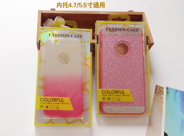 Wholesale Universal Mobile Phone Case Package PVC Colorful Plastic Retail Packaging Box For Iphone 7/6 6plus Inner Trays