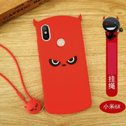 Xiaomi Mi A2 Case Silicone ,luxury 3D Cartoon Cute Silicone Fashion With Lanyard Phone Case For Xiaomi Mi 6x Cover Case