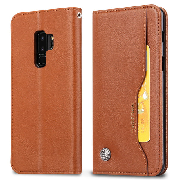 YISHANGOU Real Leather Flip Wallet Case For Samsung S9 Plus Card Holder Stand Kickstand Cover For Galaxy S9 A6 A8 Plus 2018 Capa