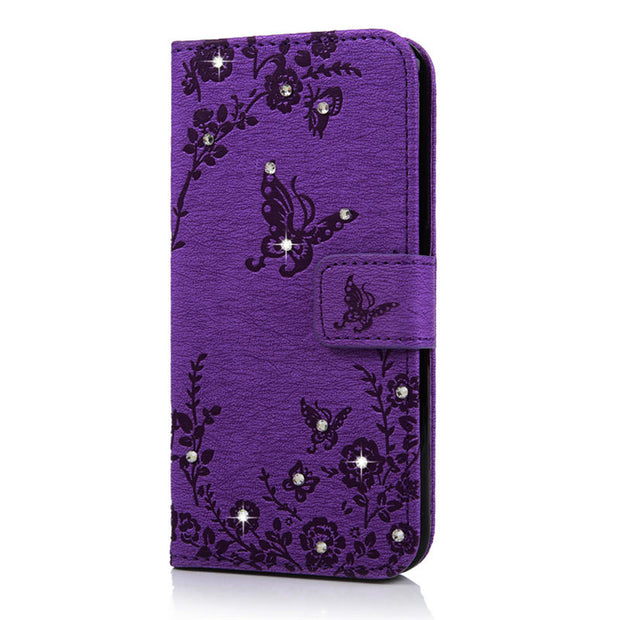 YOKIRIN Bling Diamond PU Flip Leather Wallet Case Stand Cover For Samsung Galaxy A5 J3 J5 2016 G360 G360H S6 Credit Card Holder