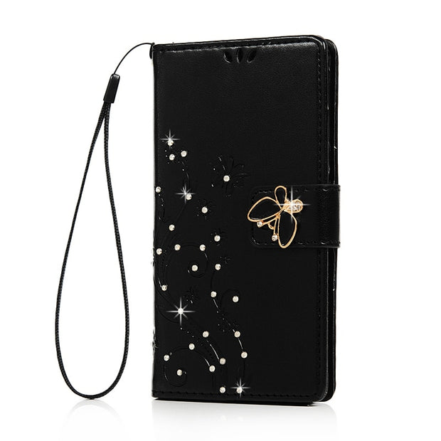 YOKIRIN Bling Rhinestone Leather Case For Samsung Galaxy A5 A5000 (2015) Glitter Diamond Flip Stand Wallet Cover For Samsung A5