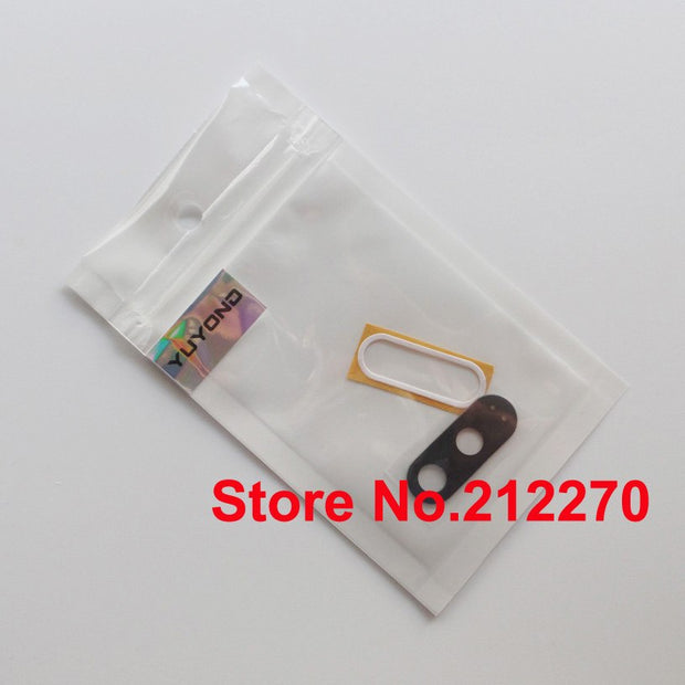 YUYOND 100set/lot New Back Camera Glass Lens Cover With Adhesive Sticker For Motorola G4 Plus Real Glass Wholesale