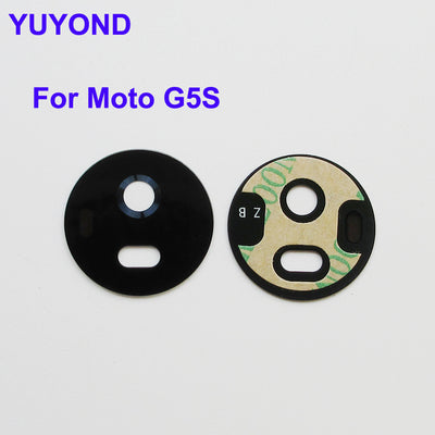 YUYOND Original New Rear Camera Glass Lens Cover With Adhesive Replacement For Motorola Moto G5S 5.2 Inch 100pcs/lot