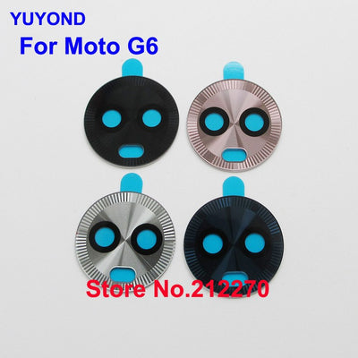 YUYOND Original New Rear Camera Glass Lens Cover With Adhesive Replacement For Motorola Moto G6 100pcs/lot W