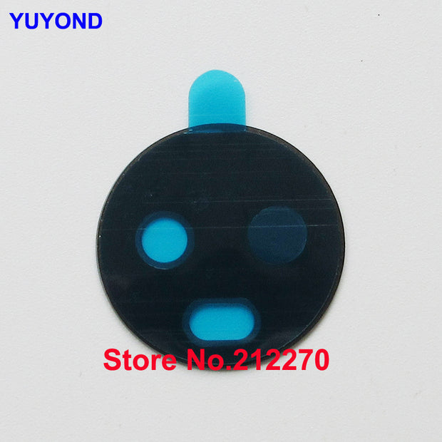 YUYOND Original New Rear Camera Glass Lens Cover With Adhesive Sticker Replacement For Motorola Moto E5 Plus Black 100pcs/lot