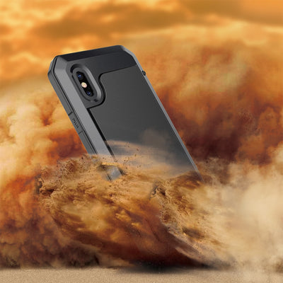 [Year-end Clearance] For IPhone X Luxury Metal Armor Protective Case For IPhone 5S SE Silicone Shockproof Full Back Cover Case
