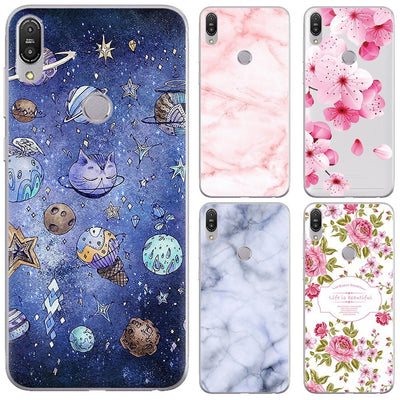 ZB601KL Ultra Thin Silicone Slim Phone Cover For Asus Zenfone Max Pro (M1) ZB601KL Floral Cute Cartoon Painted Soft Tpu Case
