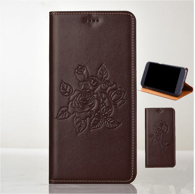 ZD08 Genuine Leather Flip Case With Kickstand For Sony Xperia XZ1(5.2') Phone Case For Sony Xperia XZ1 Phone Bag