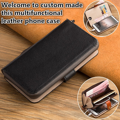 ZD14 Genuine Leahther Multifunctional Phone Bag For Sony Xperia XZ2 Premium Flip Case For Sony Xperia XZ2 Premium Phone Case