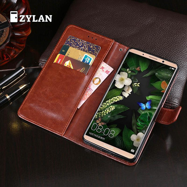 ZYLAN Case For Huawei Mate 10 Pro Case Luxury Flip Wallet Retro Leather Case For Huawei Nova 2i / Huawei Mate 10 Lite Cover