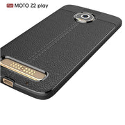 ZYSTERT Silicone Litchi Pattern Leather Armor Shockproof TPU Case Capas For Motorola Z2 Play Z2 Play Back Protect Cover Coque