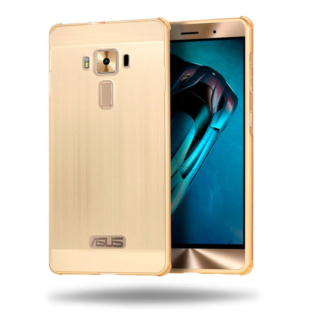 ZenFone3 ZS570KL Anti-knock Protective Cases Aluminum Metal Frame Case Slim Mirror Acrylic Back Cover For Asus ZenFone3 ZS570KL