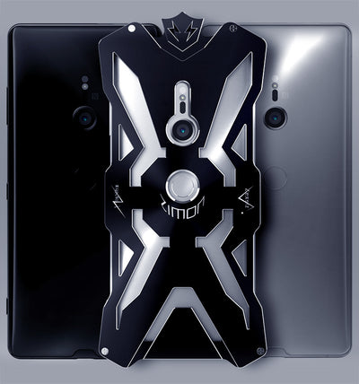 Zimon Armor Shockproof Outdoor Metal Back Cover For Sony Xperia XZ3 Aluminium Anti-knock Powerful Case For Sony Xperia XZ3 Coque