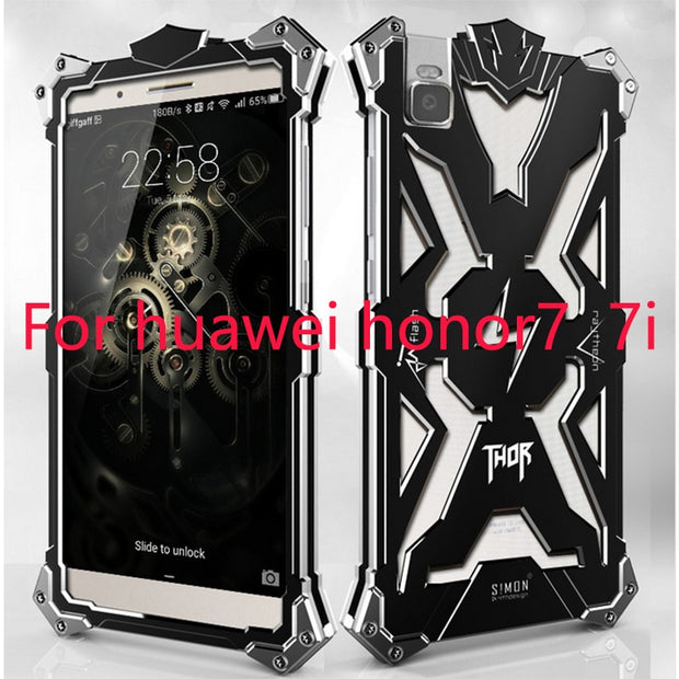 Zimon Metal Aluminum Honor 7 Phone Case On For Huawei Honor 7 Luxury Shockproof Case Cover For Huawei Honor 7i Pouzdro