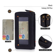 Zipper Wallet ID Card Wallet Leather Phone Cases Cover For Samsung Galaxy S5 S6 Edge Plus S7 Edge S8 Plus Note 3 4 5