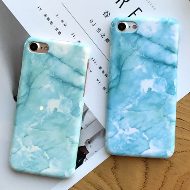 Back Cover Case For IPhone X 7 8 7 Plus Marble Pattern Stone Texture Phone Case For IPhone 6 6s 6 Plus Hard PC Smooth Back Case