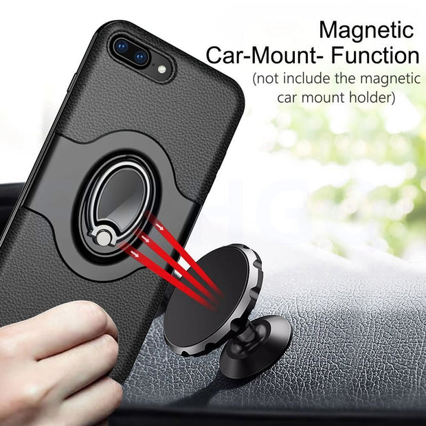For Apple IPhone 8 7 6S Ring Case Magnetic Car Air Vent Holder Stand Holder Luxury Kickstand Case For IPhone 6 7 8 6S Plus Case