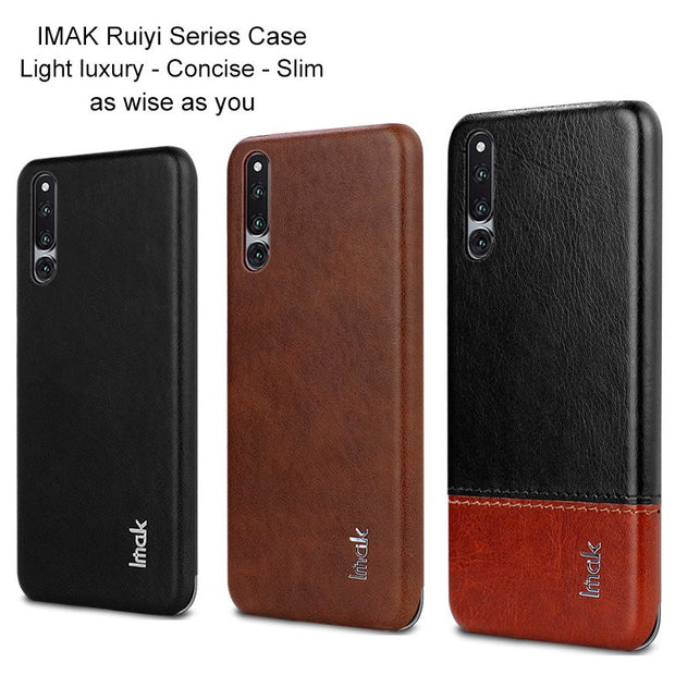 For Huawei Honor Magic 2 Case Card Slot PU Leather Cases IMAK Brand Luxury Slim Concise Series Phone Cover