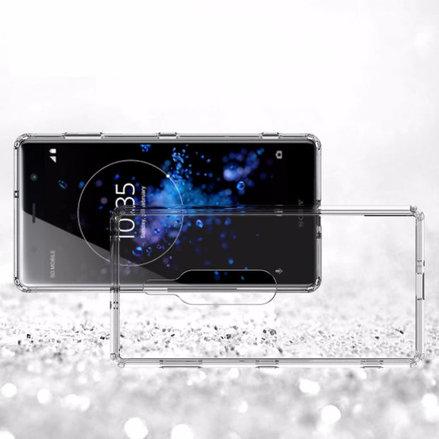 For Sony Xperia XZ2 Premium Case Shock-resistant Case For Xperia XZ Premium Cover Crystal Transparent Hard Back Phone Clear XZ 2