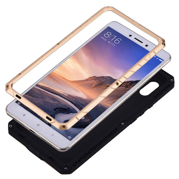 For Xiaomi Mi Max 3 Case Aluminum Metal Silicon Back Cover Case For Xiaomi Mi Max3 Cases