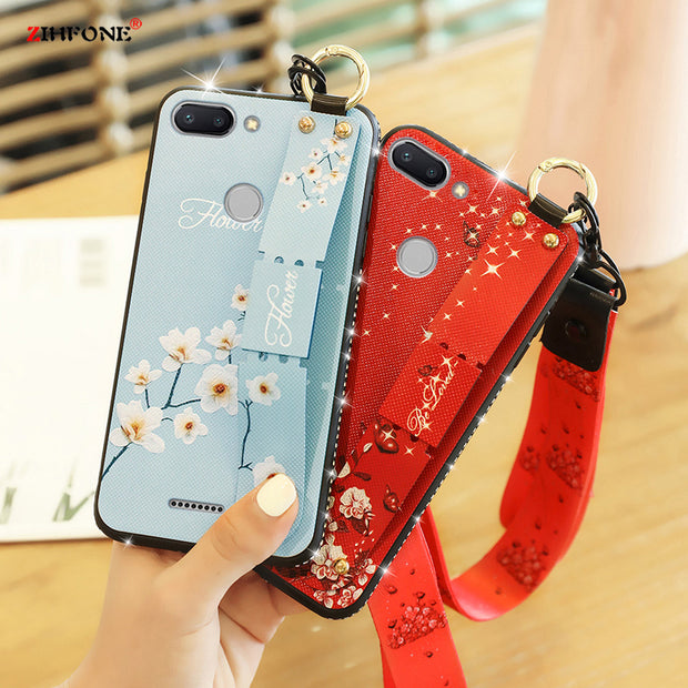 For Xiaomi Redmi 6 Case Redmi6 Case Cover Soft Silicone Pattern Back Cover On For Coque Redmi6 Xiaomi Redmi 6 Phone Case Glitter