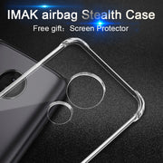 Imak Super Slim Airbag Stealth Soft Case For Motorola Moto E5 / G6 Play Dual Sim Smartphone Mobile Clear Capa Gift Screen Film