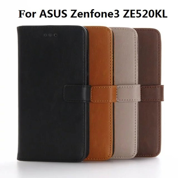 Protect Phone Cases For ASUS Zenfone3 ZE520KL,30pcs/lot,TPU Leather Flip Wallet Case For Zenfone3 ZE520KL,5.2inch Phone Case
