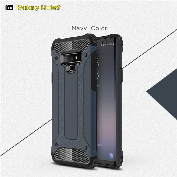 Shockproof Armor Phone Case For Samsung Galaxy Note 9 Case Hybrid TPU+PC Case For Samsung Note9 Half-wrapped Shell SQ108