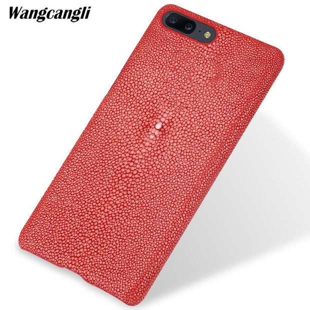 Wangcangli Custom Pearl Leather Phone Case For Oneplus 5 Case Pearl Half-pack Mobile Phone Case Mobile Phone Case For Oneplus 6