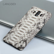 Wangcangli For Huawei Honor V9 Luxury Handmade Real Python Skin Leather Phone Case Genuine Leather Phone Case