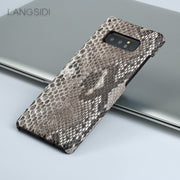 Wangcangli For Samsung Galaxy J5 Luxury Handmade Real Python Skin Case Cover Genuine Leather Phone Case