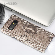 Wangcangli For Samsung Note5 Case Luxury Handmade Real Python Skin Case Cover Genuine Leather Phone Case