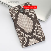 Wangcangli Mobile Phone Shell For Huawei Mate 9 Mobile Phone Case Advanced Custom Natural Python Skin Leather Case