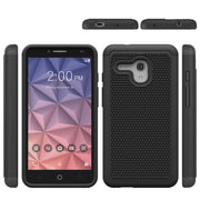 Wholesale Hybrid 3 In 1 PC+TPU Rugged Cover Case For Alcatel XL Tough Slim Armor Football Pattern Case For Alcatel XL Case