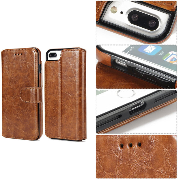 With Card Pocket Luxury Retro Phone Case Leather Wallet Magnetic Back Cover For IPhone 6 7 8 X Case Case Cover With Card Slot