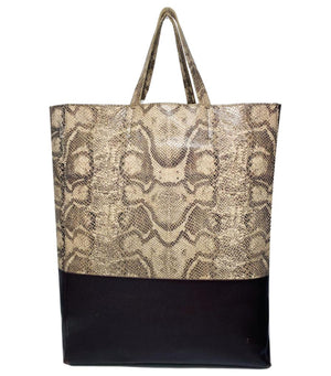 Celine Leather & Python Tote Bag By Phoebe Philo