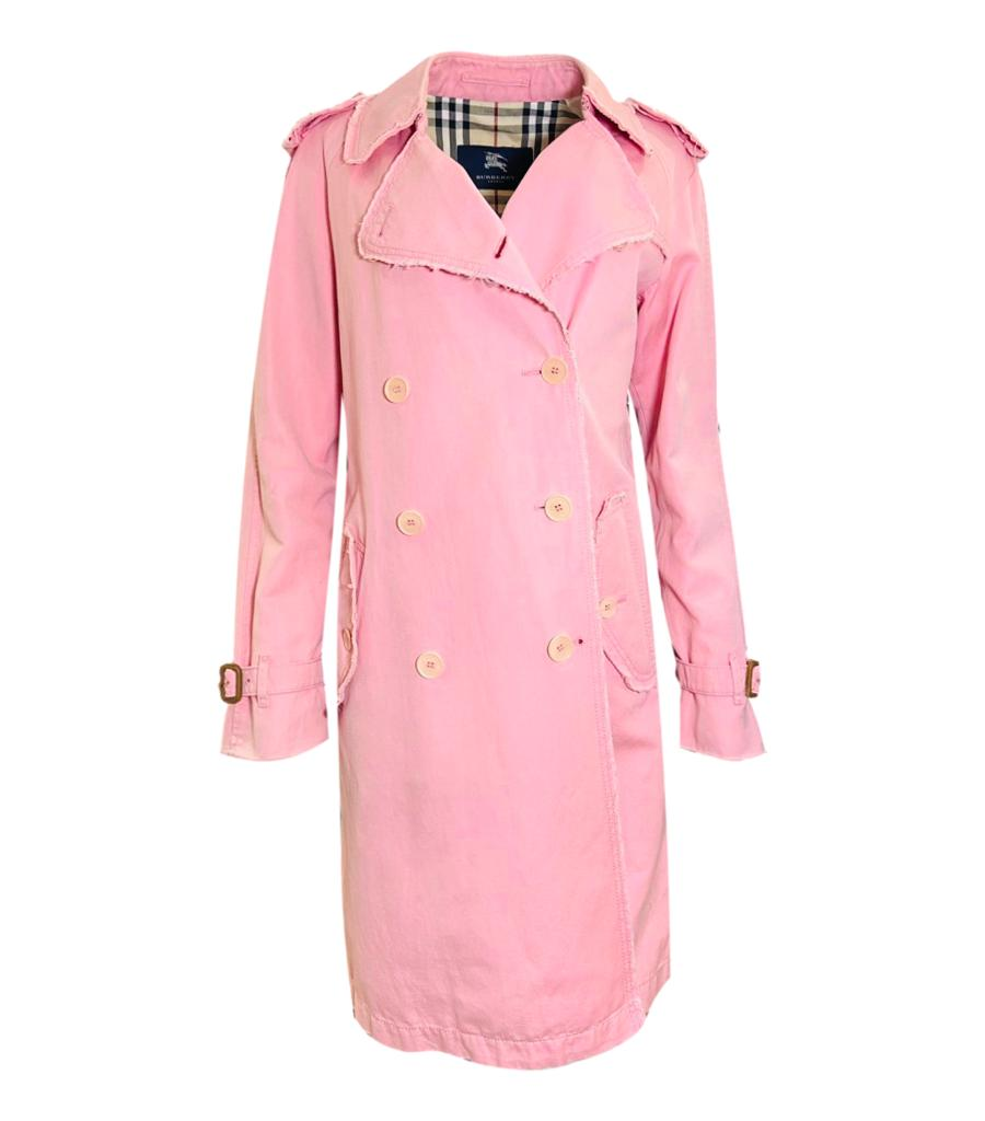 Burberry London Cotton/Line Trench Coat. Size 12UK