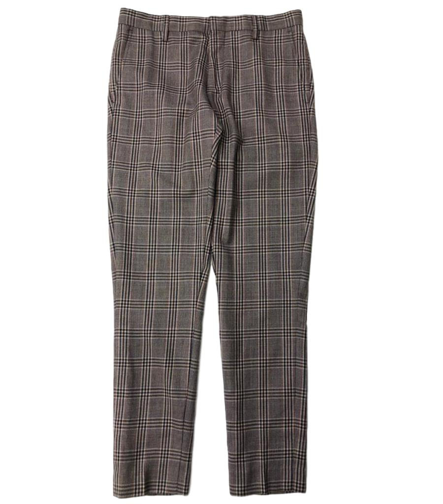 Dries Van Noten Multicolour Check Trousers. Size 46