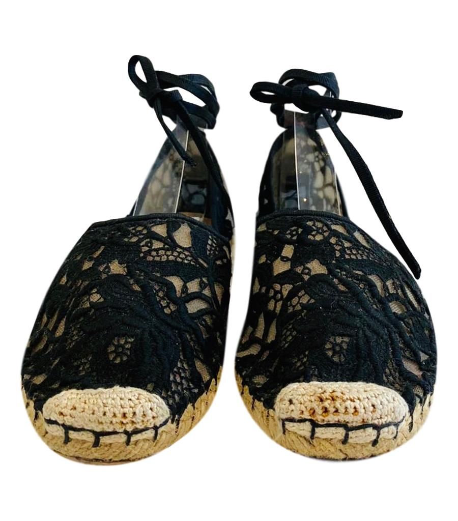 Valentino Lace Espadrilles. Size 37