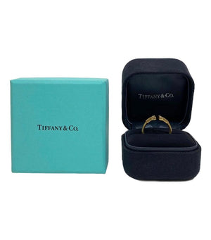 Tiffany & Co 18k Gold & Diamond T Ring