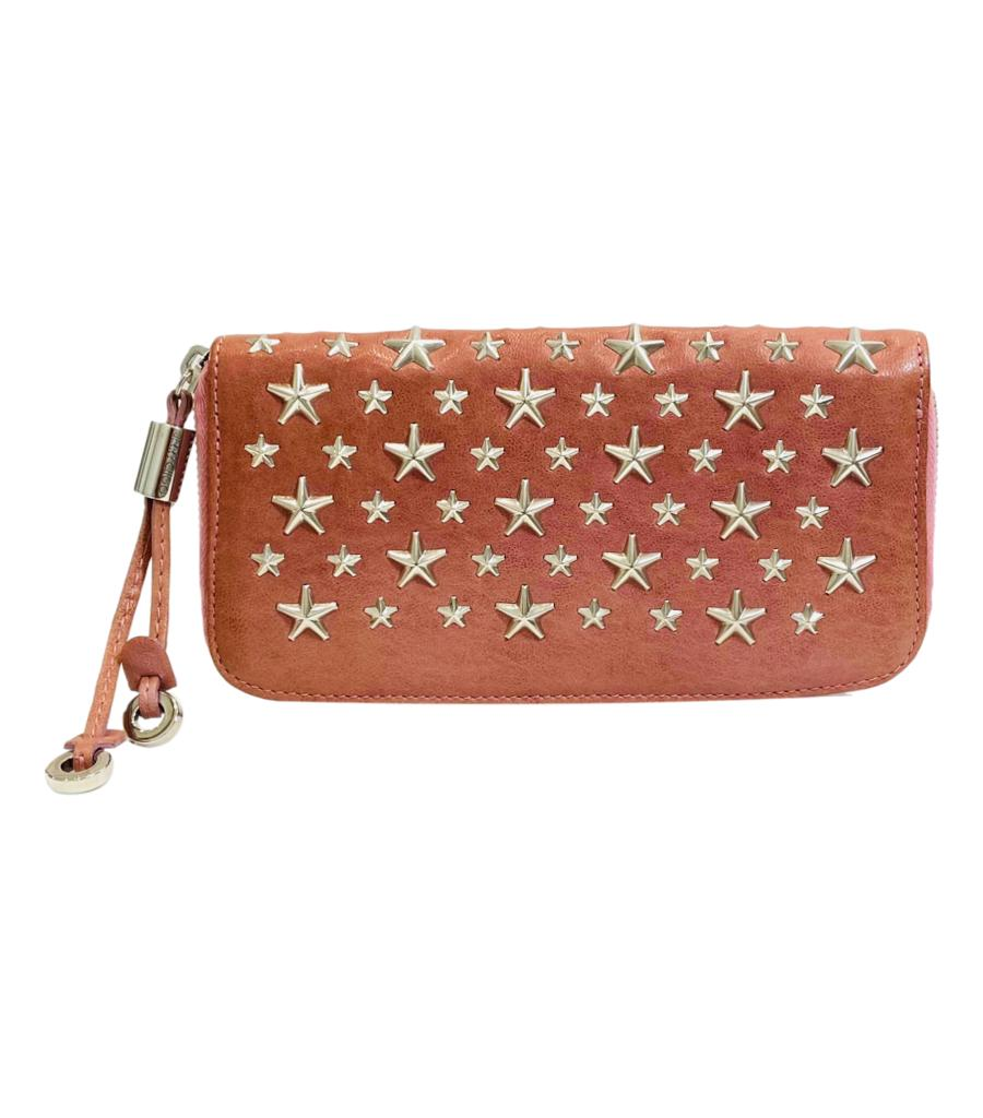 Jimmy Choo Leather Star Studded Wallet/Purse