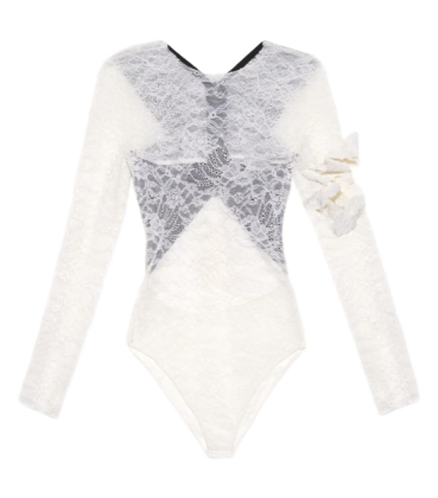 Preen By Thornton Bregazzi Lace Body Suit. Size S