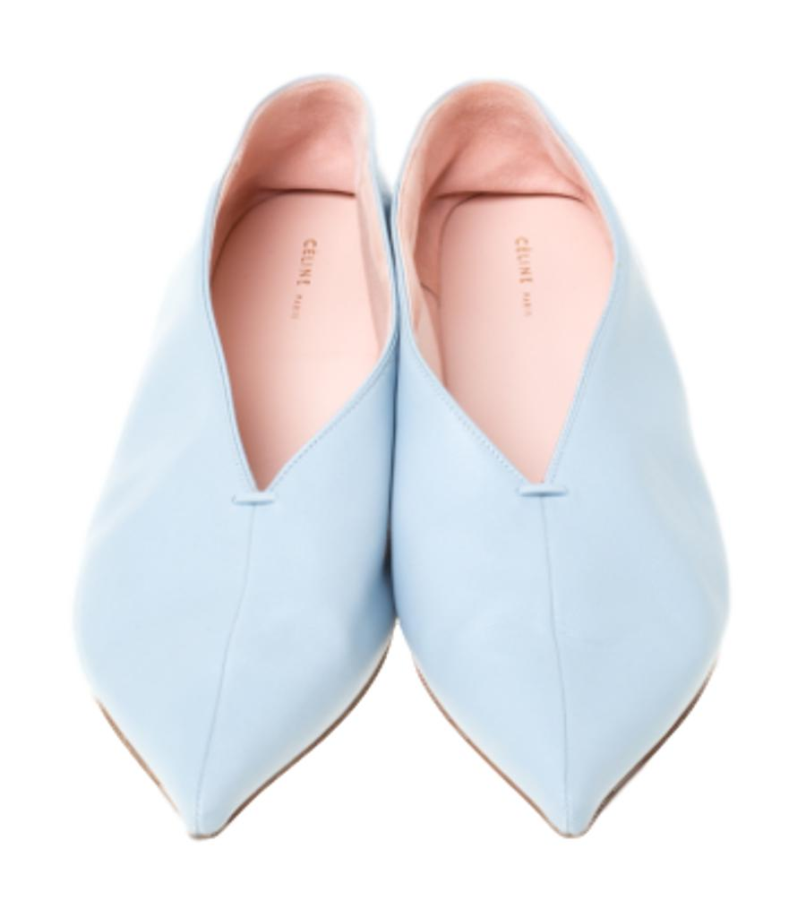 Celine Ballerina Soft Leather Flats. Size 36.5