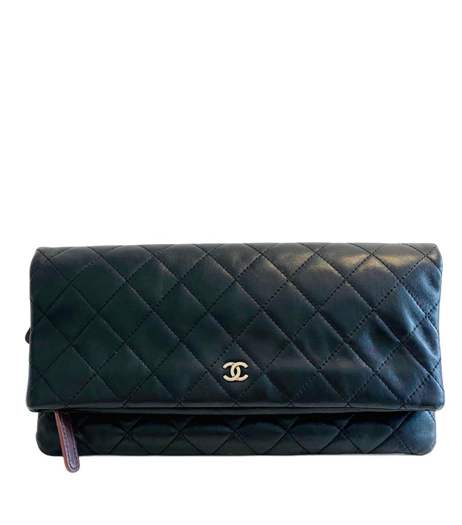 Chanel Leather Clutch Bag