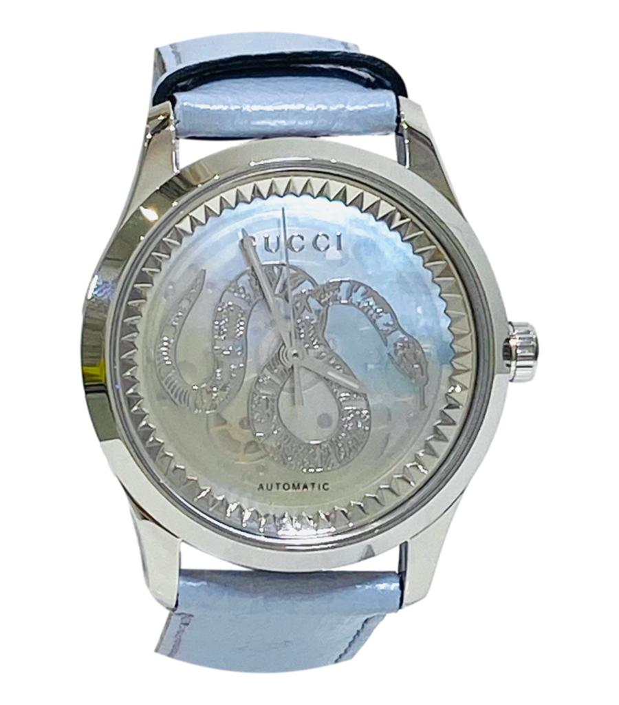 Gucci Automatic G Timeless Mother Of Pearl Watch