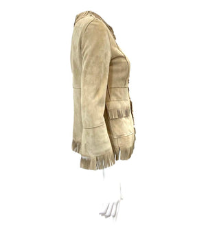 Dolce & Gabbana Fringed Suede Jacket. Size 38IT