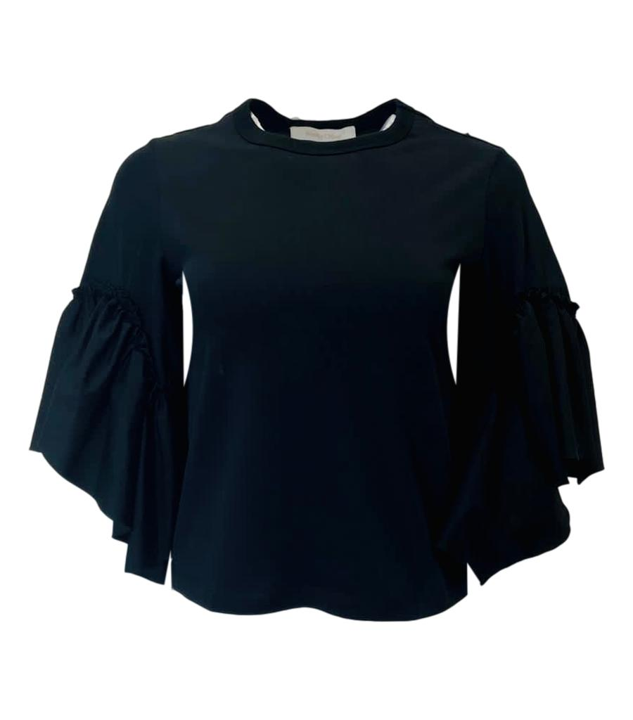 See By Chloe Ruffle Crop Top, Size XS