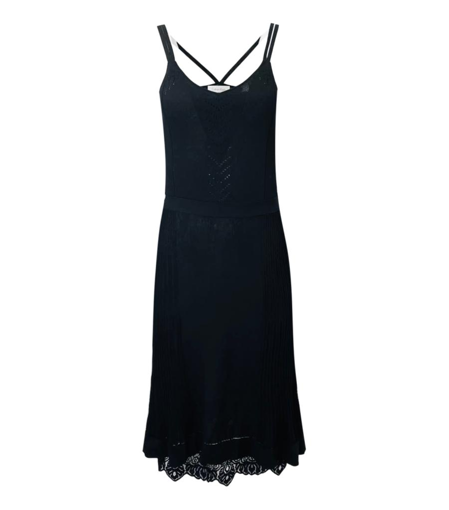 Calvin Klein Strappy Lace Trim Dress. Size XS