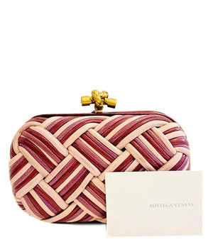Bottega Veneta Knot Leather Clutch Bag