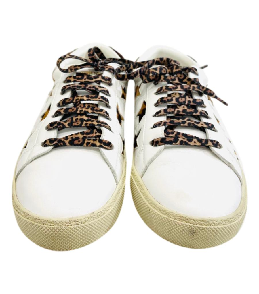 Saint Laurent Court Pony Skin Star Sneakers. Size 40.5
